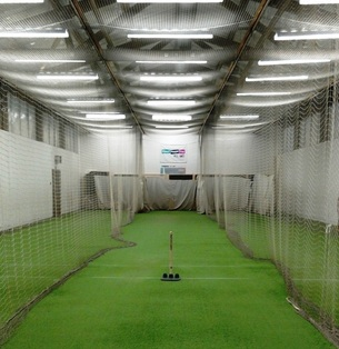 Photo of the inside of the Avery Cricket Centre