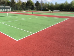 Photo of the tennis courts