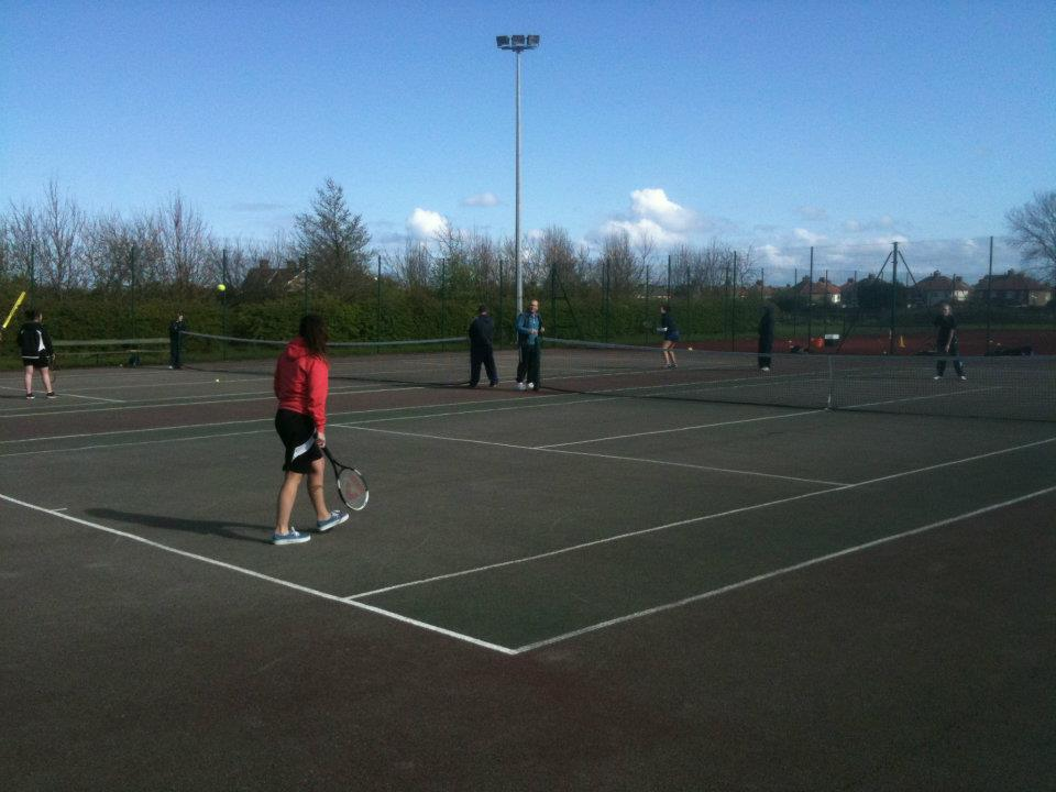 Photo from a Norton Tennis Club open day