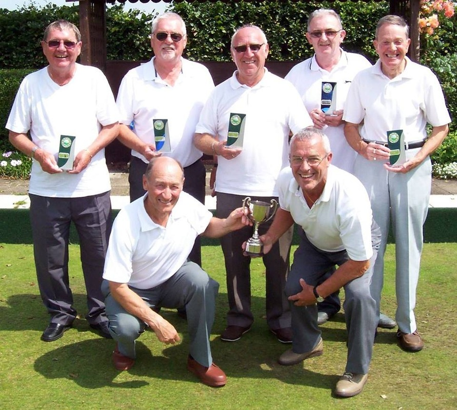 Photo of Norton Bowling Club with trophies