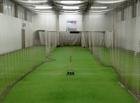 Recent photo of the inside of the Avery Cricket Centre