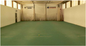 Old photo of the inside of the Avery Cricket Centre